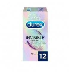 Durex Preservativos Invisible Extra Sensitivo 12 unidades