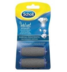 Scholl Cabezal de recambio Velvet Smooth Diamond Crystals Durezas persistentes 2 unidades