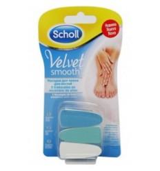 3 Cabezales de recambio Scholl de uñas Velvet Smooth